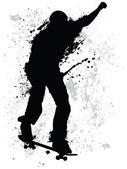Grunge 短道速滑 — 图库矢量图片