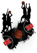 Grunge Basketball — Stock Vector