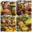 Rustic pottery on market — Stock Photo #12133136