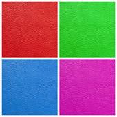 многоцветная качества кожаный набор — Стоковое фото