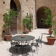 Italian backyard - Stockfoto