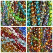 Colorful glass bead collage — Stock Photo
