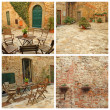 Tuscan yard - Stockfoto