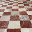 Antique marble checkered pavement — Stock Photo
