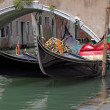 Royalty-Free Stock Photo: Gondolas moored on canal, Venice, Italy, Europe