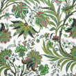 Green floral pattern background — 图库照片