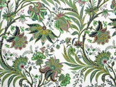 Green floral pattern background — Foto Stock