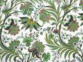 Plano de fundo padrão floral verde — Foto Stock