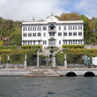 Villa Carlotta seen from lake Como — Stock Photo