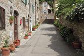 Street in italian village — Stock Photo