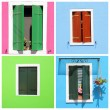 Multicolor retro windows with shutters — Stock Photo #12562612