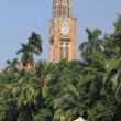 Rajabai Clock Tower on University Fort Campus and Oval Maidan — Stock Photo