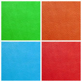 Vivid colors leather genuine set — Stock Photo