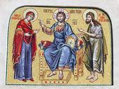 Детали религиозной мозаики — Стоковое фото