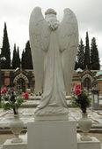 Cemetery statue of angel — Stock Photo