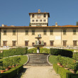 The Medici Villa of Petraia and  Italian style garden — Stock Photo