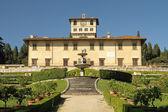 The Medici Villa of Petraia and Italian style garden — Stock Photo