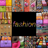 Poster with fashion fancy accessories, — Stock Photo