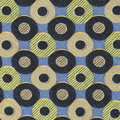Seamless fabric with circles pattern — Stock Photo