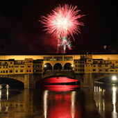 Fireworks in Florence — Stock Photo