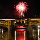 Fogos de artifício em florença — Foto Stock