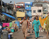 Life in slums of Mumbai — Foto Stock