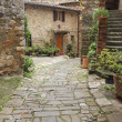 Beautiful tuscan courtyard — Stock Photo
