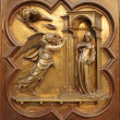 Annunciation  by Lorenzo Ghiberti - Stock Photo