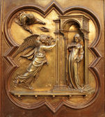 Annunciation by Lorenzo Ghiberti — Foto Stock