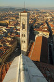 Aerial view of Campanile di Giotto in Florence — Stockfoto