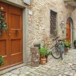 Beautiful nook in village Montefioralle — Stock Photo #18240083