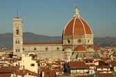 Aerial view of cathedral of Florence — Stock Photo