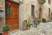 Lindo recanto na vila montefioralle — Foto Stock