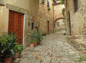 Beautiful italian small street — Stock Photo