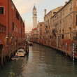 Pictorial venetian canal at dusk — Stock Photo