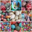 Easter eggs collage — Stock Photo #18886363