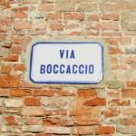 Street sign : Via Boccaccio — Stock Photo #18903393