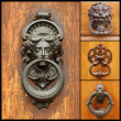 Collage with retro door knockers — Stock Photo #18933441