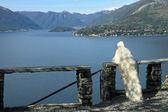 Admiring fantastic view of Lake Como — Stock fotografie