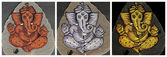Collection of painted images of Ganesha — Stock Photo