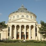 The Romanian Athenaeum (Romanian: Ateneul Roman) - concert hall — Stock Photo