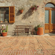 Nice entrance to the tuscan house, Sovana, Tuscany, Italy, Europ — Stock Photo #19947745