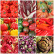 Vegetable collage, images from italian farmers market, Italy — Stock Photo #20054543