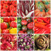 Vegetable collage, images from italian farmers market, Italy — Stock Photo