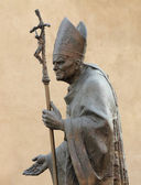Statue of Pope John Paul II by Zemla ( Blessed John Paul or Jo — Stock Photo