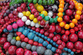 Colorful beads as background, market in Krakow, Poland — Stock Photo