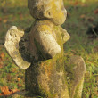 Stock Photo: Old damaged angelic statue on Rakowice cemetery, Krakow, Poland