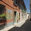 Street in Dozza , Italian small town known for its festival of t — Stock Photo #21054935