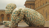 FLORENCE - JULY 6: Sculpture CO-STELL-AZIONE by Italian artist R — Stock Photo
