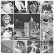 Art of Florence - collage — Foto Stock